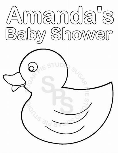 Coloring Shower Pages Printable Printables Rattle Idea