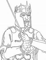 Coloring King Arthur Pages Saul Crown David Getcolorings Printable Colorings sketch template