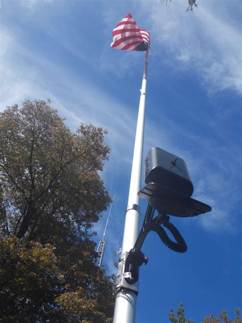 telescoping flagpole with solar light 20 ft telescopic aluminum flagpole product details