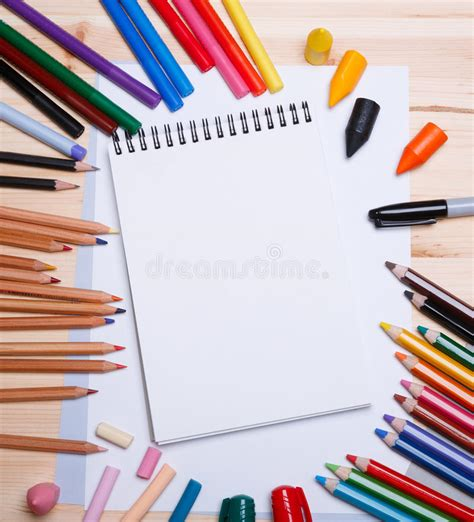 drawing materials stock image image  group blue