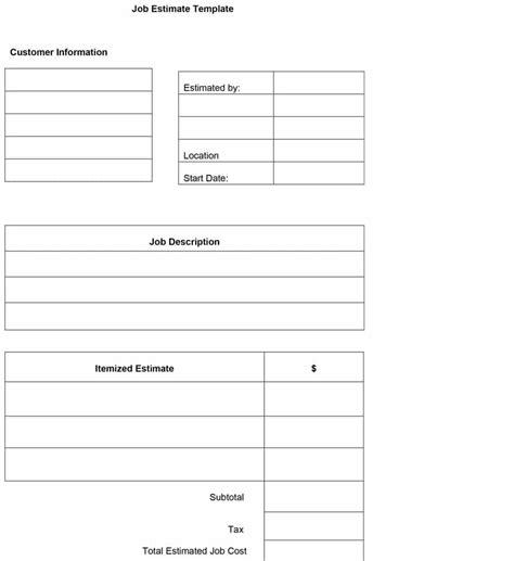 Free Estimate Template 44 Free Estimate Template Forms Construction Repair