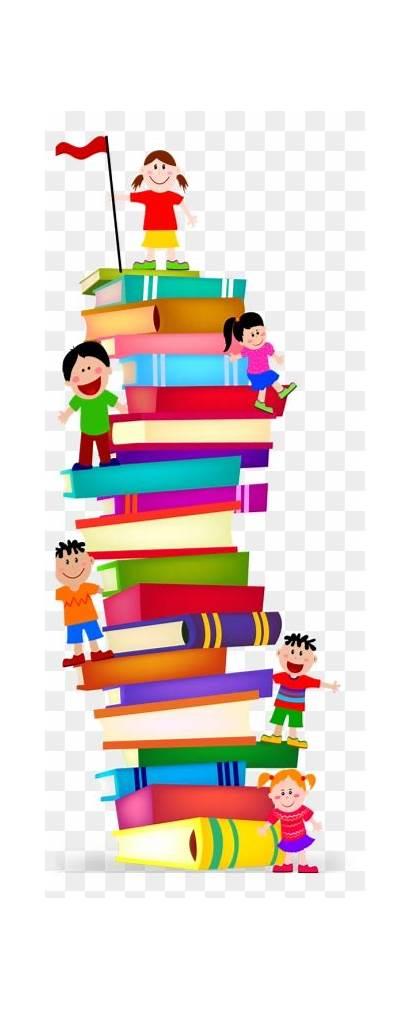 Library Preschool Clipart Clip Stack Menu Services