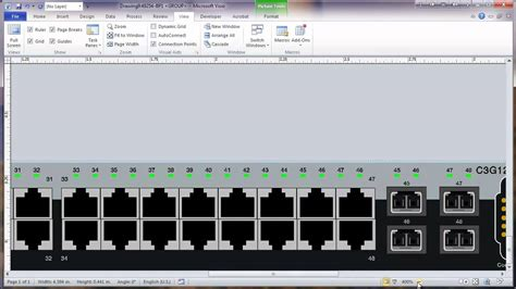 visio 2010 network rack diagram tutorial part 2 modify