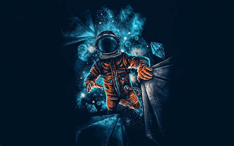 Artistic Wallpapers For Laptop by Artistic Spaceman Blue Orange 4k Wallpaper Best Wallpapers