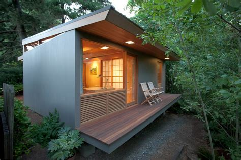 modern small house deck contemporary with wood slats bulb included