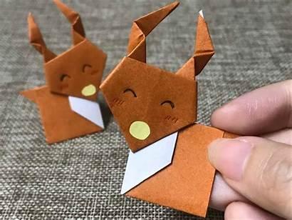 Tutorial Origami Reindeer Diy