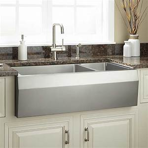 36quot Optimum Stainless Steel Farmhouse Sink Wave Front