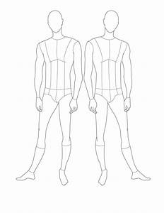 1000 images about croquis on pinterest for Costume drawing template