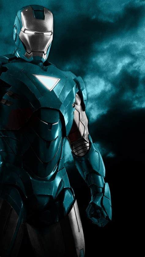 blue iron man robots superheroes armor black background