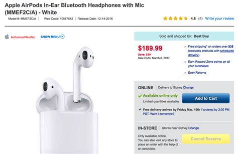 apple s airpods sale for 30 at 189 99 from best buy today only u iphone in canada