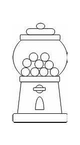Gumball Machine Template Coloring Cut Printables Paste Preschool Gum Bubble Pages Activities Templates Worksheets Days Kid Makinglearningfun Halloween Hundreds Pattern sketch template