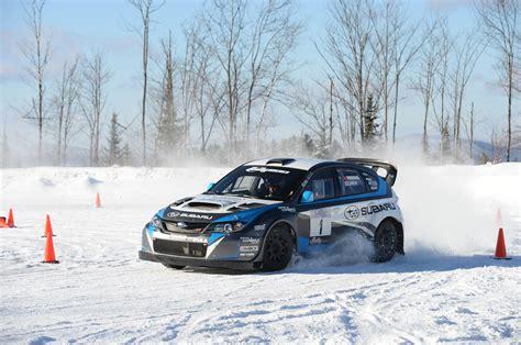 rally subaru learning to drive a subaru wrx sti rally car in the snow