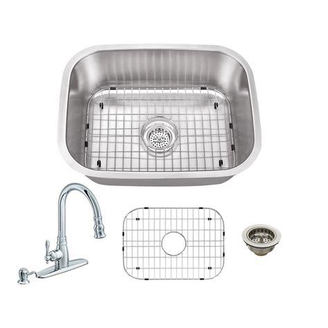 schon kitchen sinks schon all in one undermount stainless steel 24 in 0