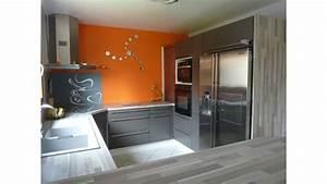 deco cuisine orange et gris With modele de deco cuisine