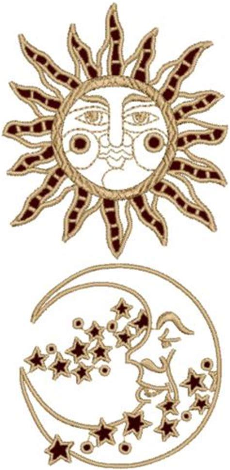 advanced embroidery designs sun  moon