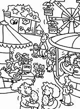 Coloring Park Pages Carnival Amusement Fair Theme County Fun Drawing Games Activity Adult Contest Printable Getcolorings Football Sheets Getdrawings Funny sketch template