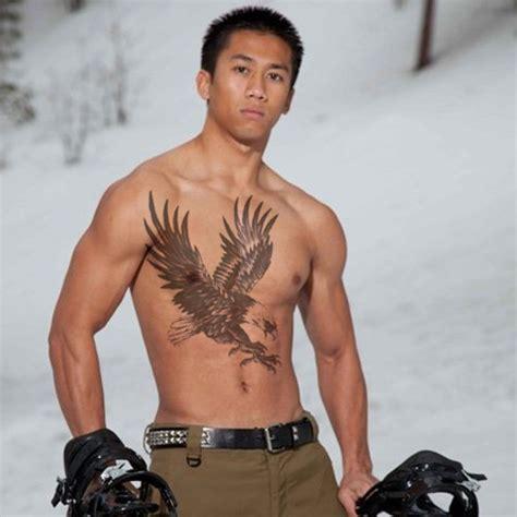 brust tattoos männer m 228 nner aufkleber wasserdichte gro 223 e adler fl 252 gel voll r 252 cken brust schulter arm