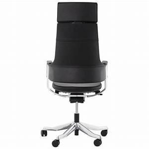 Fauteuil De Bureau Design : fauteuil de bureau design ergonomique cuba en cuir noir ~ Teatrodelosmanantiales.com Idées de Décoration