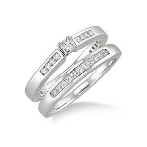 princess cut wedding ring sets cheap princess cut wedding ring set on gold jeenjewels