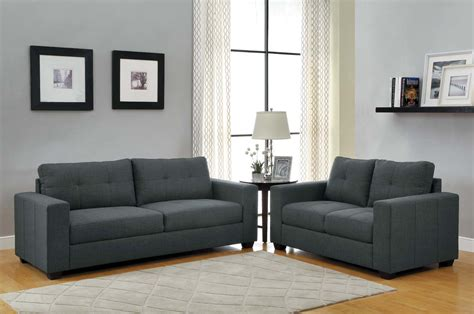 dark gray sofa bed homelegance ashmont sofa set dark grey linen u9639 3