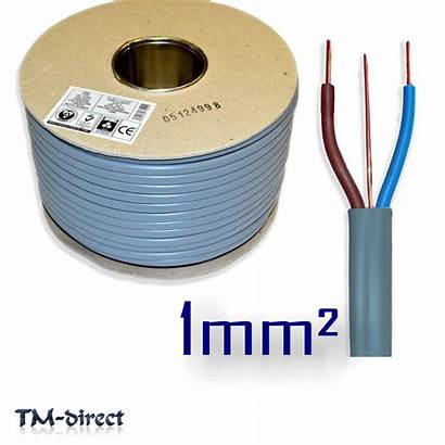Wire 1mm Electric Grey Twin Cable Earth