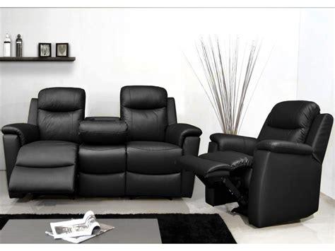 canapé et fauteuil relax canapé et fauteuil relax evasion en cuir 4 coloris