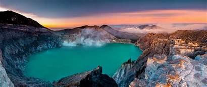 Java Indonesia Ijen Kawah Volcanoes Volcanes Lake