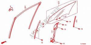 Front Door Glass   Regulator For Honda Cars Accord Tourer 2