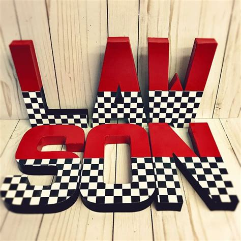 race car letters checkerboard letter large letters glitter letters black and white letters