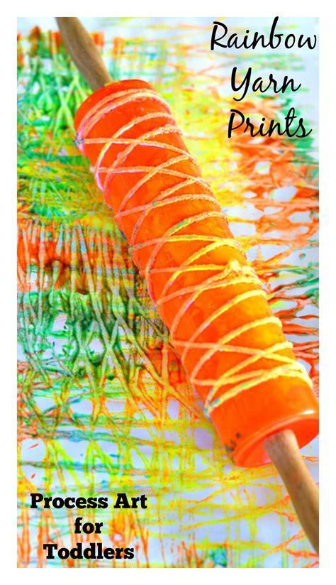 printmaking rainbow yarn art  installment   art