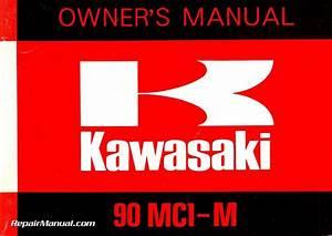 1974 Kawasaki 90 Mc1a Mc1m Motorcycle Owners Manual