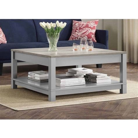 Solid valueaaroni'm always pleased with any of the love my new table!!!pattycoffee table is great, heavy duty real wood. Wood Coffee Table Large Square Vintage Gray Storage Shelf Living Room Furniture #homediscounts # ...