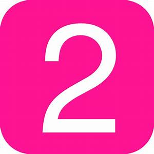 Pink, Rounded, Square With Number 2 Clip Art at Clker.com ...