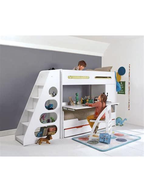 bureau pour ado gar n lit mezzanine enfant pour combiné évolutif combibed