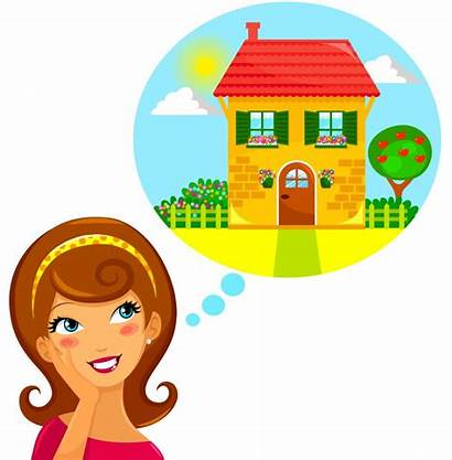 Dream Dreaming Clipart Clip Woman Young Illustration