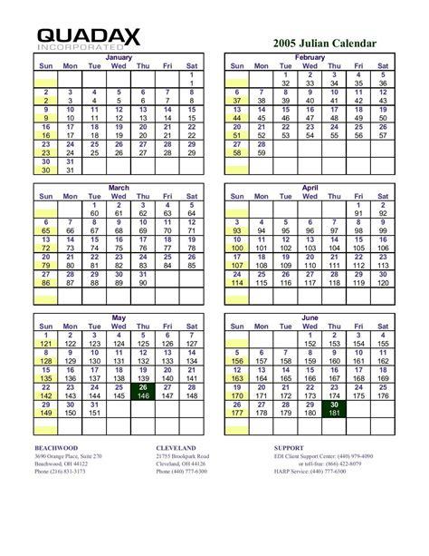 quadax  julian date calendar printable