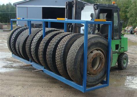 Tire Rack, Cover Spreader And Landmarks