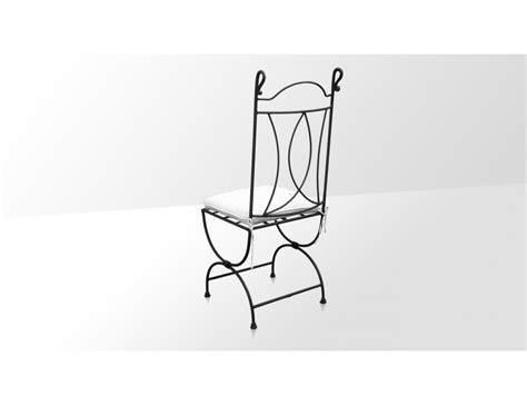 coussin chaise fer forgé la métallerie chaise en fer forgé avec coussin
