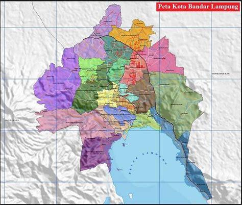 peta kota bandar lampung terbaru lengkap ukuran besar