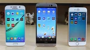 HTC One M9 Plus vs Galaxy S6 vs iPhone 6 Speed Test - YouTube