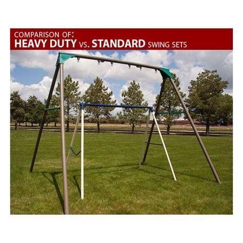 lifetime heavy duty a frame metal swing set kit earthtone 290038