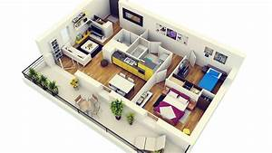 2 bedroom apartment house plans With plan maison avec appartement
