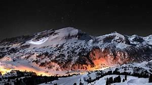 Montaña nocturna 1366x768 FondosWiki com