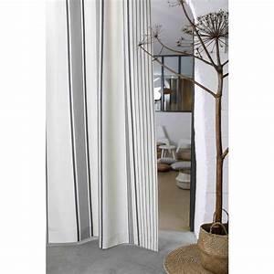 Rideau Gris Et Blanc : rideau gris et blanc berrain fusain ~ Teatrodelosmanantiales.com Idées de Décoration