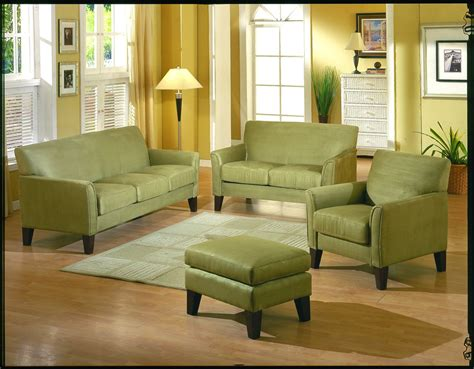 Sage Green Leather Sofa Sage Microfiber Fabric Living Room