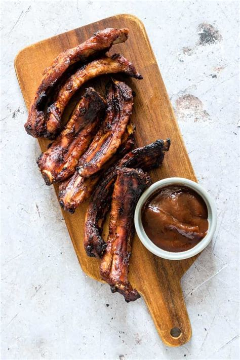fryer ribs air smoky bbq recipes recipe carb gluten low happens sauce ramekin