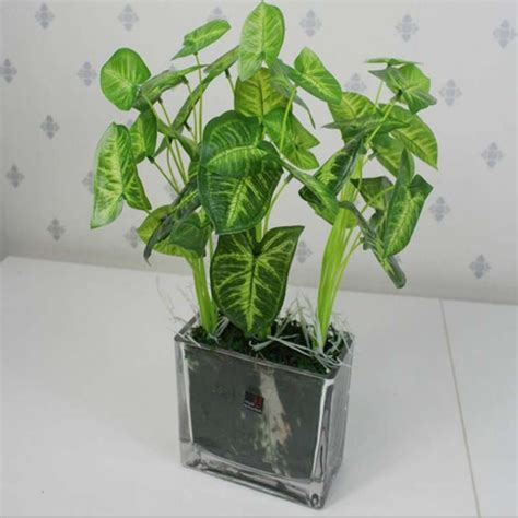 garden decoration leaves best quality garden decoration green leaves potted plant