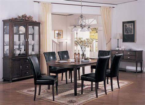 dark cherry finish elegant dining room furniture