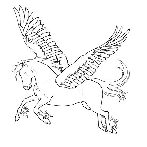 Kleurplaat Paard Met Vleugels by Leuk Voor Pegasus Het Vliegende Paard Paard Met