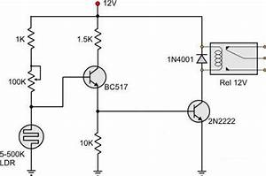 ldr circuit diagram with relay readingratnet With sensor ldr circuit also simple relay circuit diagram together with led